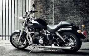 Обои Чёрный Triumph: Мотоцикл, Кирпич, Triumph, Мотоциклы