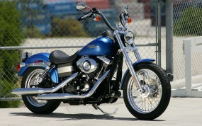 Обои Harley-Davidson FXD: Мотоцикл, Синий, Сетка, Harley-Davidson, Мотоциклы