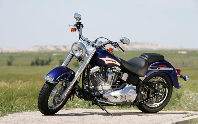 Тёмно-синий Harley-Davidson