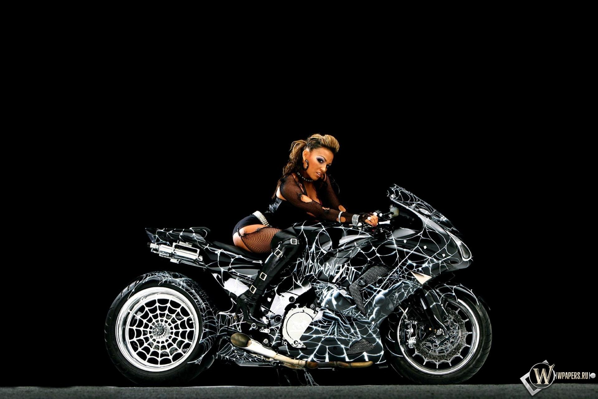 Паутинный мотоцикл 1920x1280