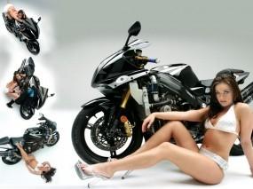 Мотоцикл с девушкой