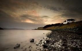 Обои Шотландия: Море, Камни, Берег, Небо, Шотландия, Природа