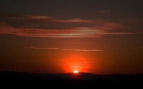 Обои Sunset Sky: Солнце, Закат, Вечер, Природа