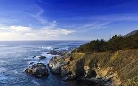 Обои Берег Калифорнии: Вода, Море, Скалы, Берег, Небо, Калифорния, Природа