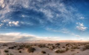 Обои Небо над пустыней: Пустыня, Горы, Песок, Небо, Природа