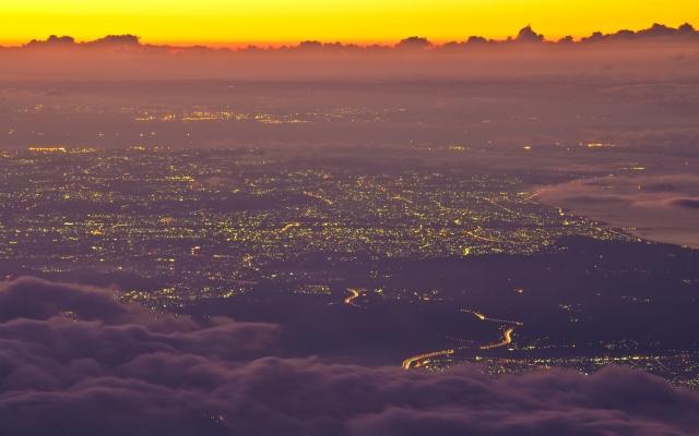 Пейзаж Фуджи в Японии