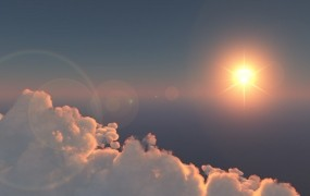 Обои Солнце за облаками: Облака, Солнце, Небо, Прочие пейзажи