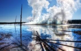 Термальный источник Prismatic Spring в Йеллоустоуне