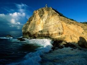 Обои Скалы Гваделупы: Море, Солнце, Скала, Природа