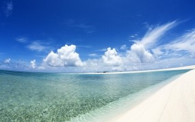Обои Райское море: Облака, Море, Небо, Природа