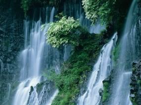 Обои Водопад Японии: Водопад, Япония, Природа