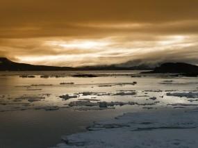 Обои Арктический пейзаж: Облака, Зима, Лёд, Арктика, Природа