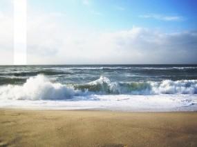 Обои Море и волны: Волны, Песок, Море, Брызги, Природа