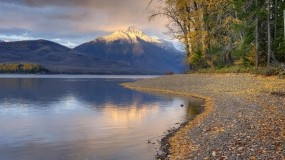 Обои Осеннее озеро: Горы, Вода, Лес, Осень, Осень