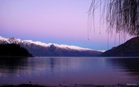 Обои Violet: Горы, Водоём, Небо, Природа
