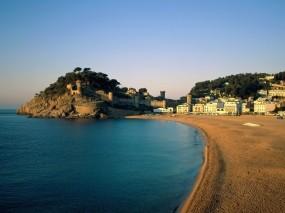 Обои Гран-Канария Испания: Пляж, Небо, Дома, Испания, Природа