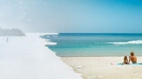 Обои Зима-лето: Зима, Снег, Океан, Холод, Лето, Жара, Природа