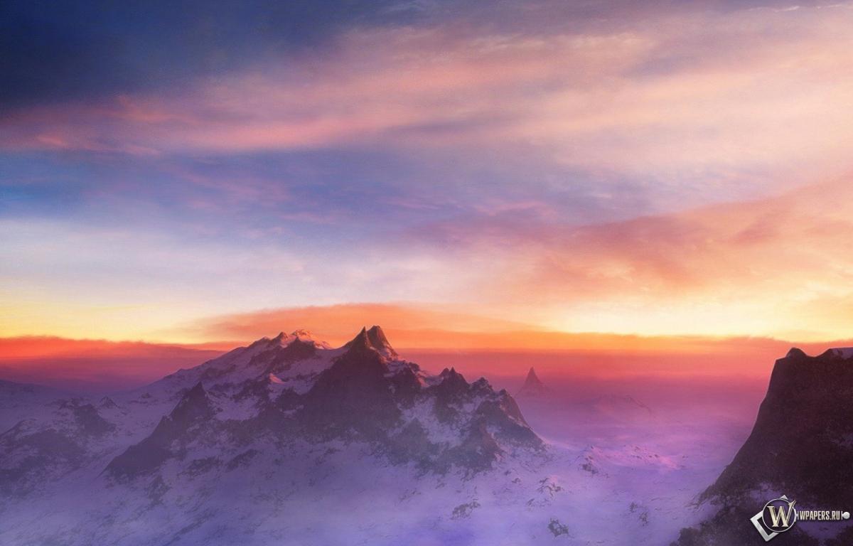 Закат в горах 1200x768