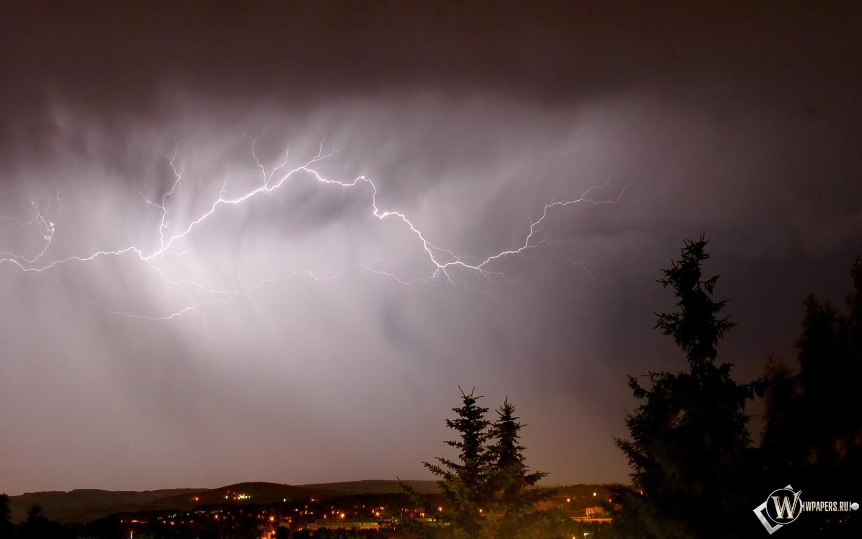 Обои гроза, молния, буря, тучи. Города foto 14