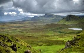 Обои Горы Шотландии: Горы, Луга, Шотландия, Природа