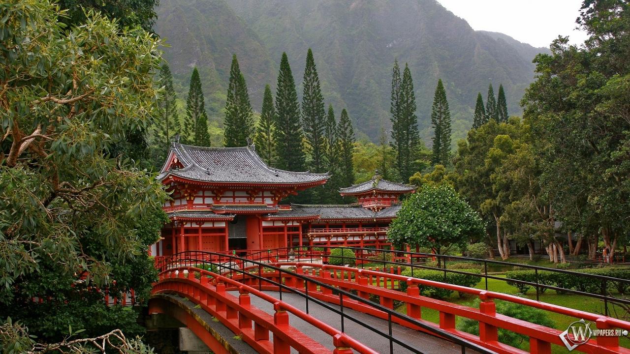 Акаси-Кайкё висячий мост в Японии 1280x720