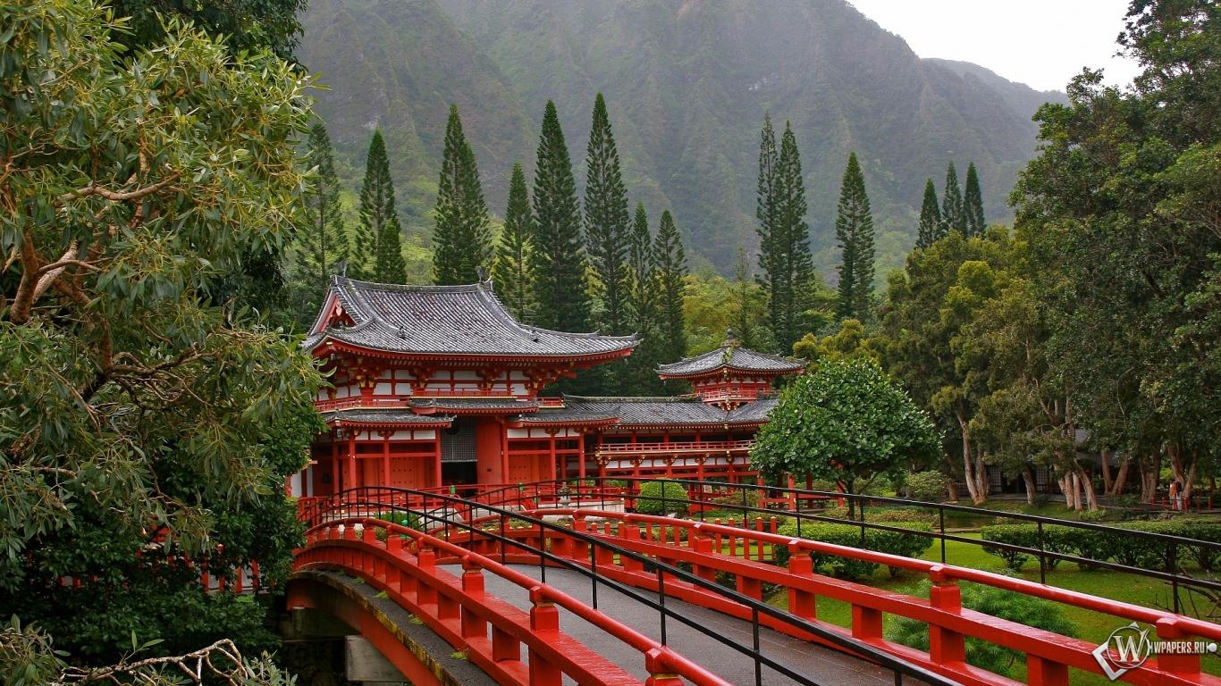 Акаси-Кайкё висячий мост в Японии 1366x768