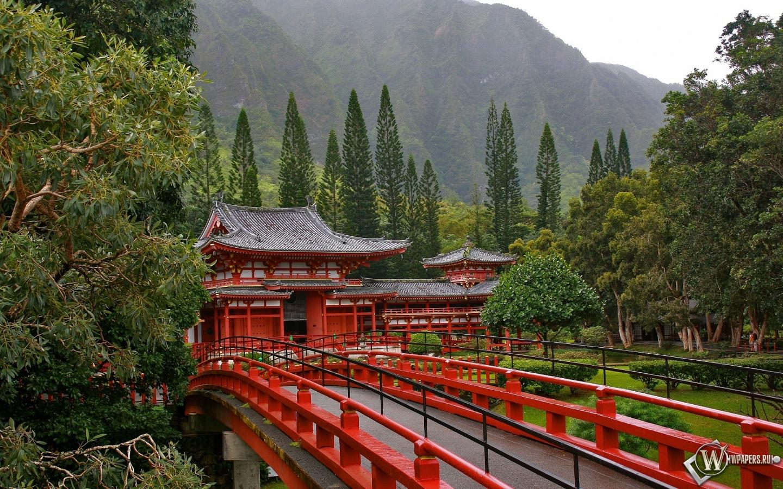 Акаси-Кайкё висячий мост в Японии 1440x900