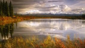 Обои Осень пришла: Горы, Природа, Озеро, Осень, Осень