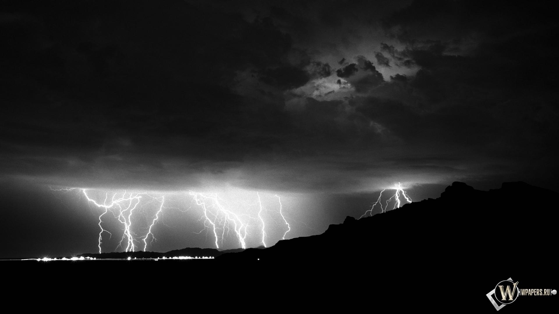Обои гроза, молния, буря, тучи. Города foto 19