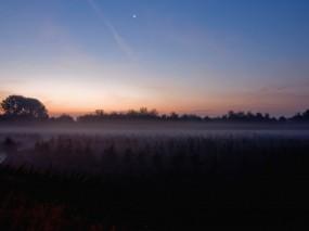 Обои Магнитное поле Луны: Туман, Луна, Поле, Природа