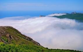 Обои Туман в горах: Облака, Горы, Туман, Природа