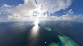 Обои Мальдивы: Облака, Солнце, Океан, Мальдивы, Острова, Вода и небо
