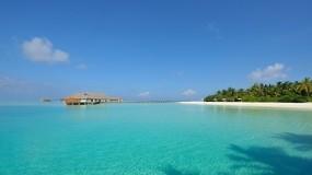 Обои Мальдивы: Пляж, Море, Остров, Небо, Вода и небо