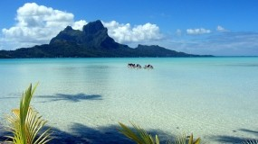 Обои Бора-Бора: Море, Остров, Небо, Природа