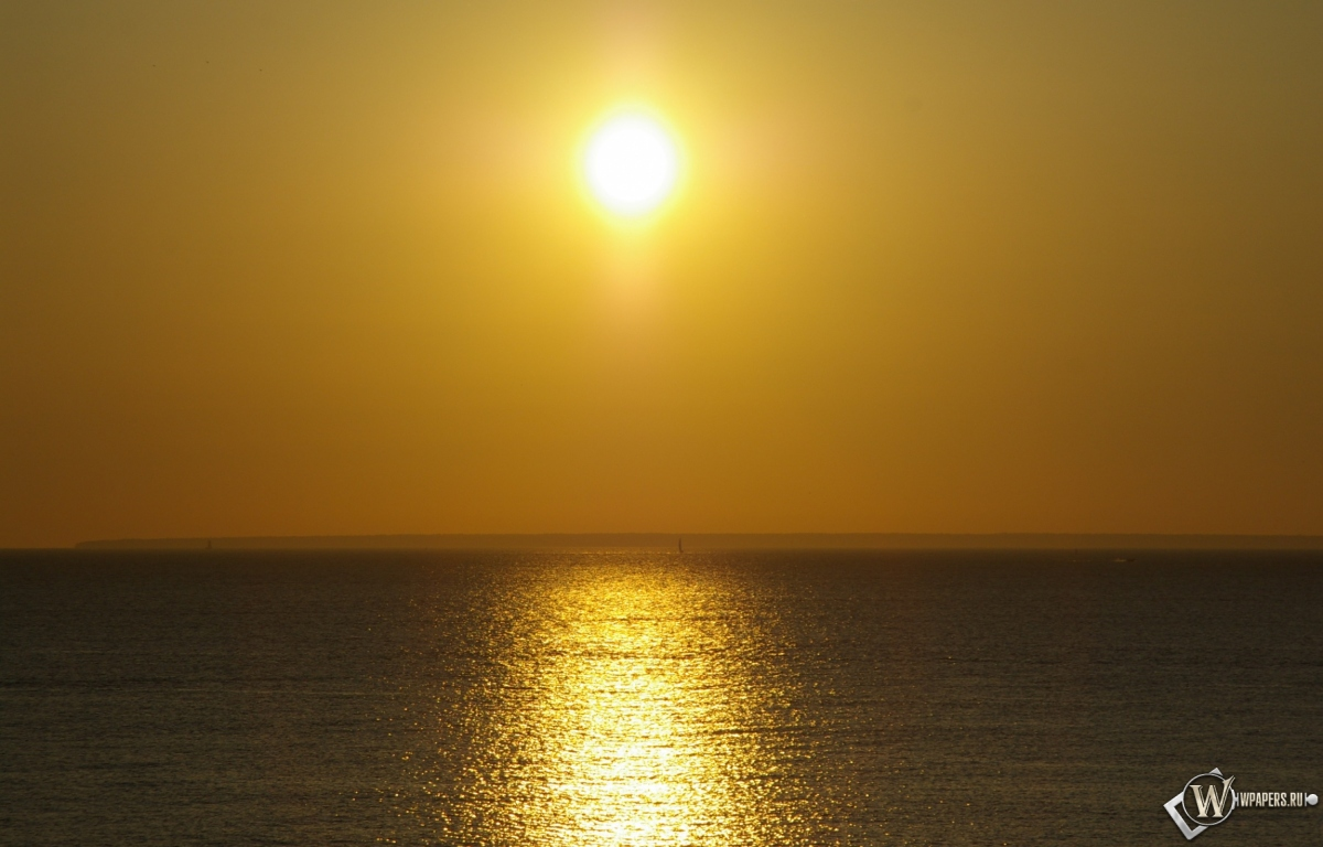 Закат на море 1200x768