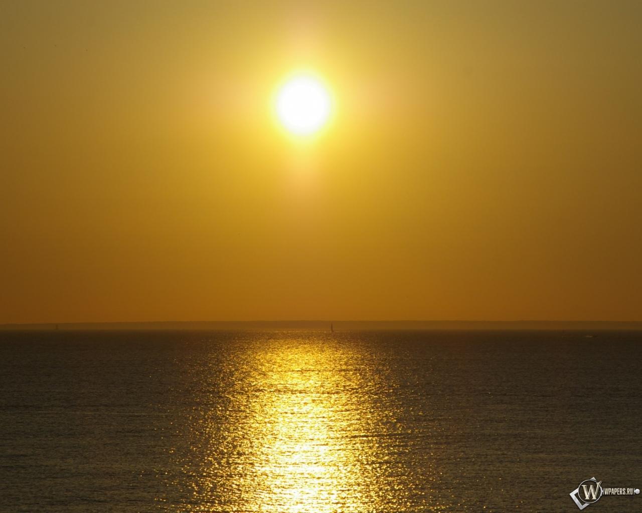Закат на море 1280x1024