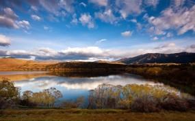 Обои Новая зеландия: Озеро, Новая Зеландия, Природа