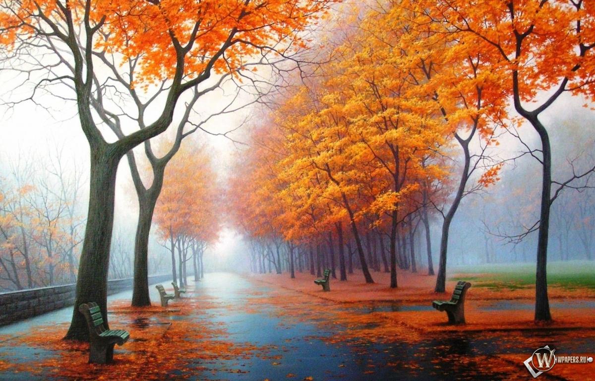 Осенний парк 1200x768
