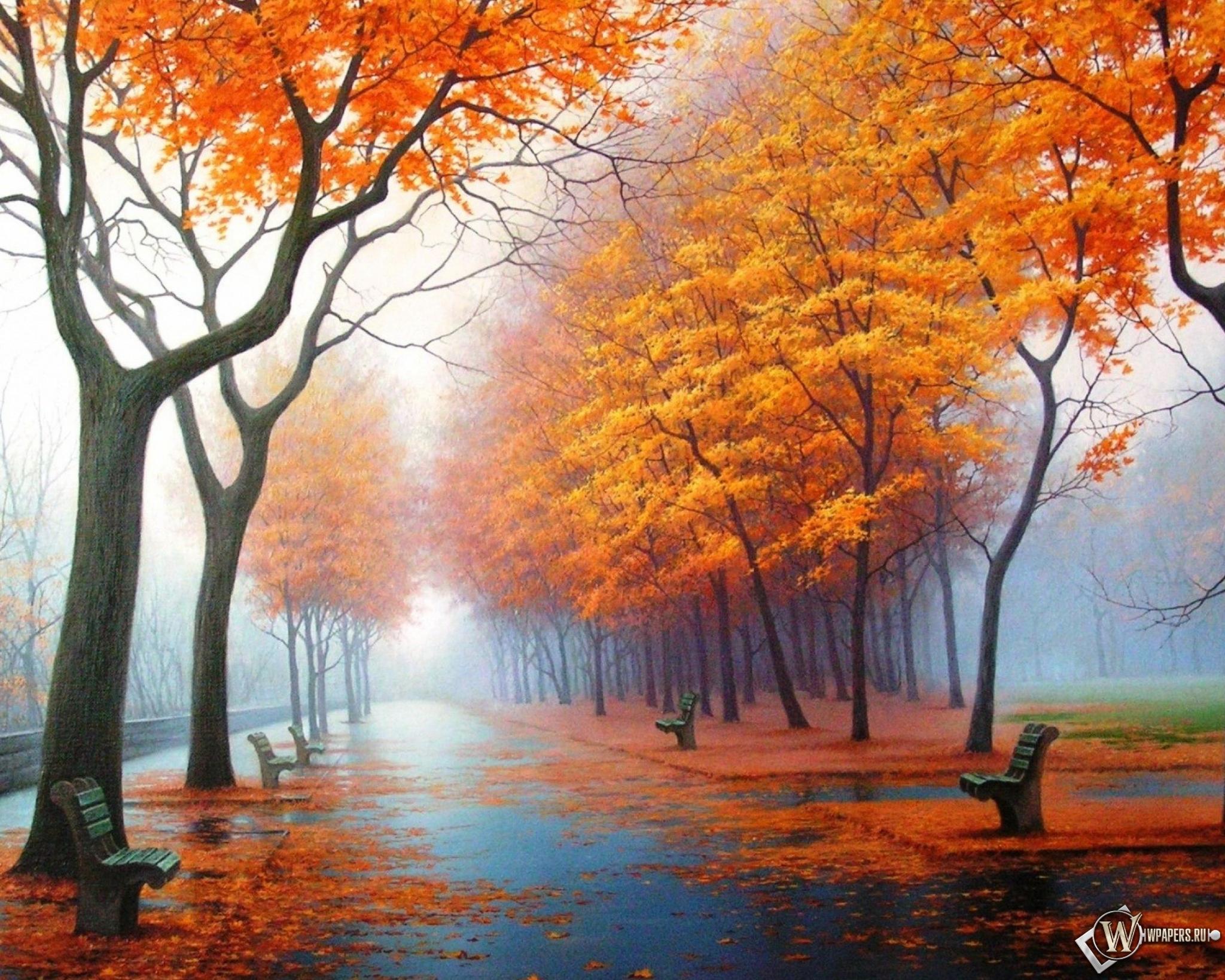 Осенний парк 2048x1638