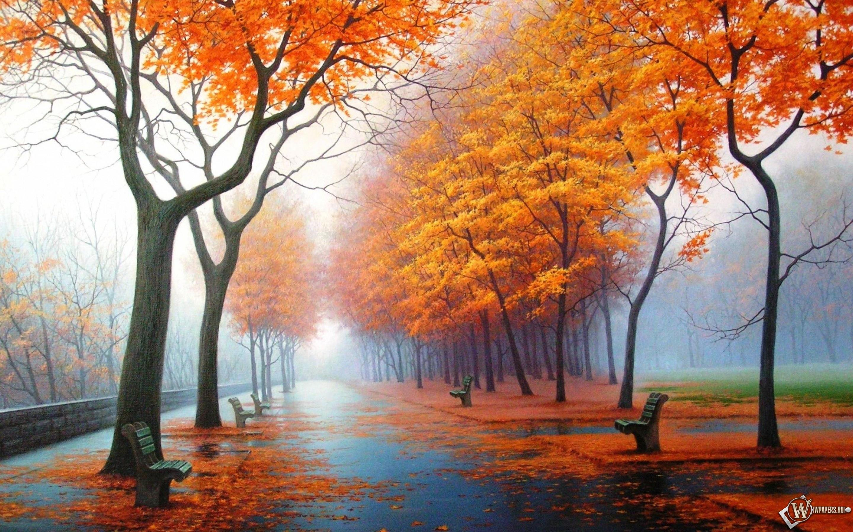 Осенний парк 2880x1800
