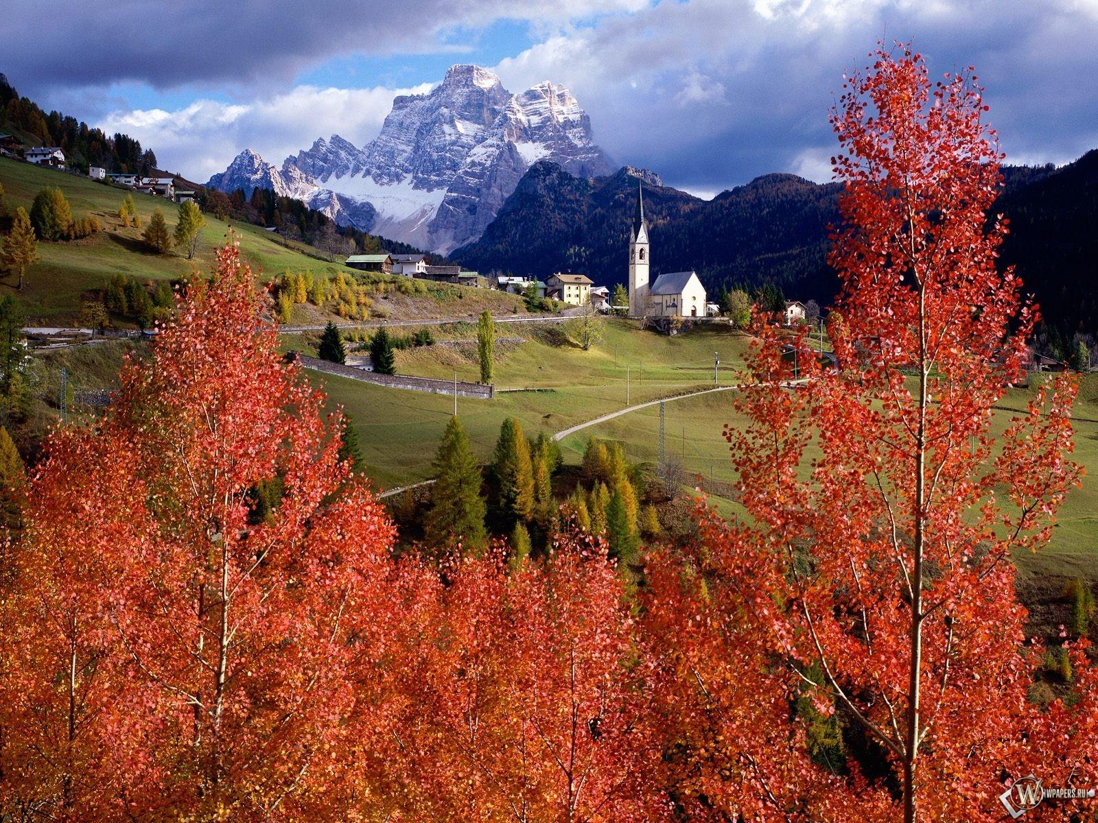 Осенний замок 1600x1200