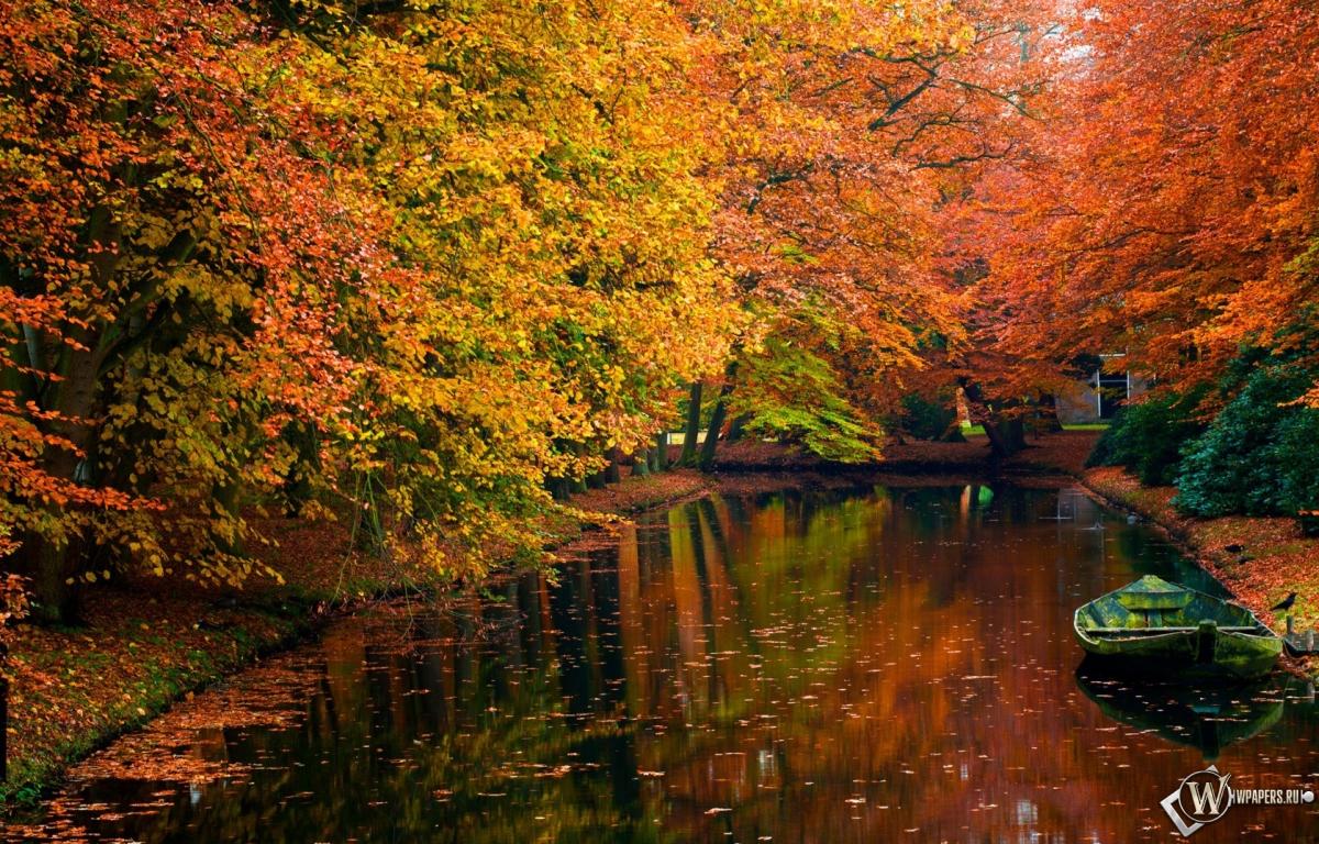 Осенний пруд 1200x768