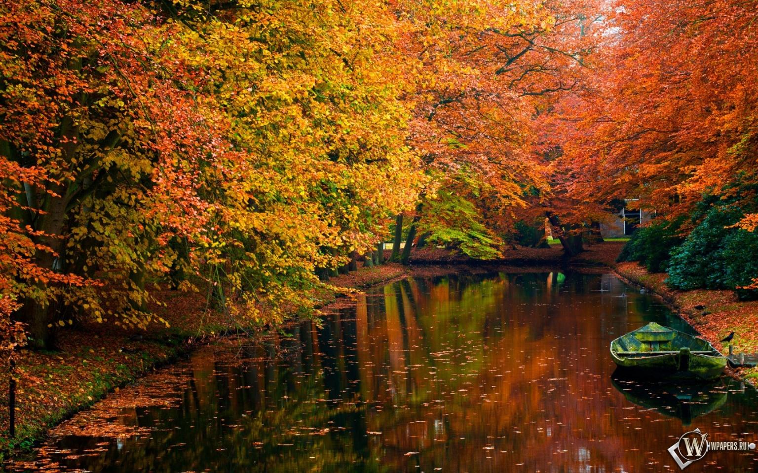 Осенний пруд 1536x960