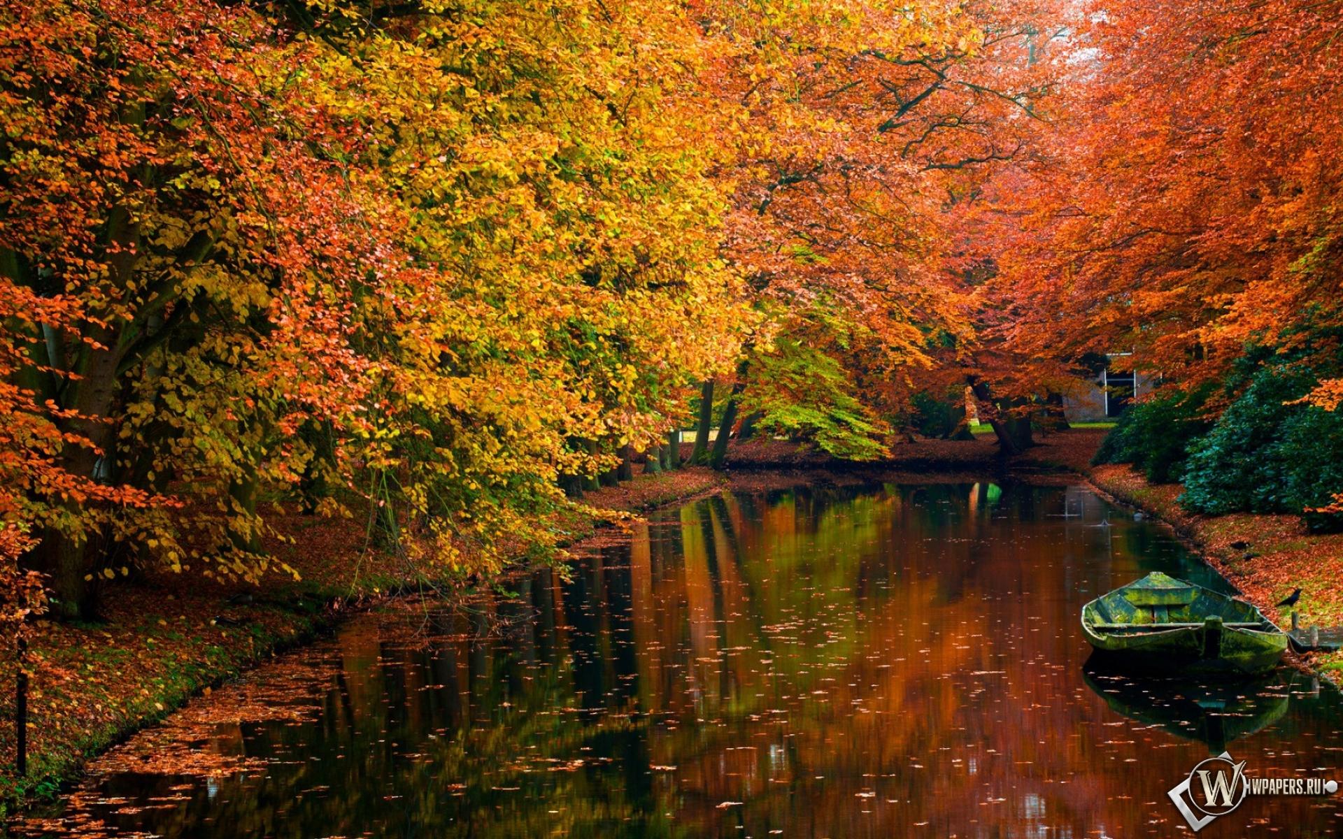 Осенний пруд 1920x1200