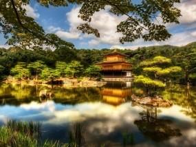 Обои Озеро в Японии: Лес, Озеро, Япония, Прочие пейзажи