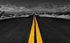Обои Дорога: Разметка, Линии, Дорога, Асфальт, Небо, Горизонт, Прочие пейзажи