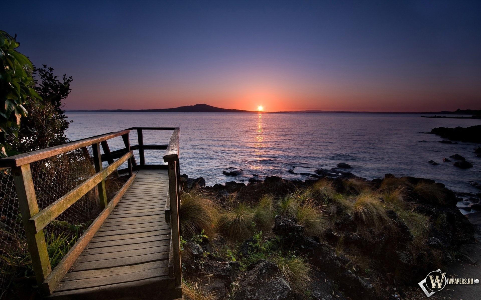 Закат в Новой Зеландии 1920x1200