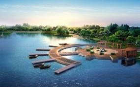 Обои Пейзаж Китая: Вода, Озеро, Лодки, Небо, Китай, Прочие пейзажи