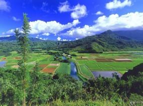 Обои Гавайские острова: Горы, Посадка, Гавайи, Прочие пейзажи