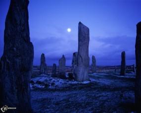 Обои Камни синей ночью: , Прочие пейзажи